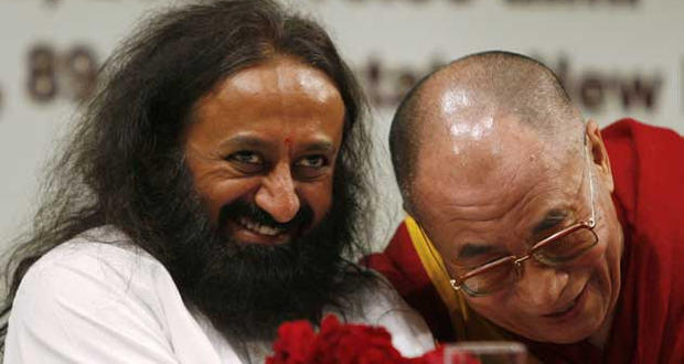 Sri Sri Ravi Shankar with the Dalai Lama
