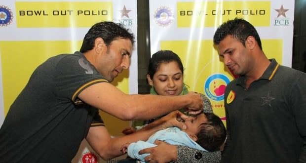 India, Pakistan unite to 'bowl out polio'