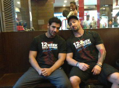 John Abraham and Kris Gethin
