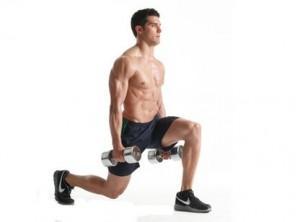 Left leg reverse lunge