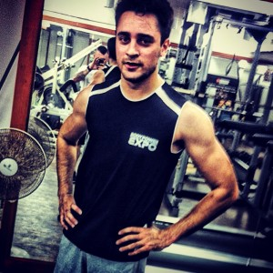 Imran Khan after a workout