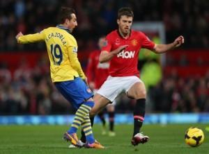 Michael Carrick against Arsenal