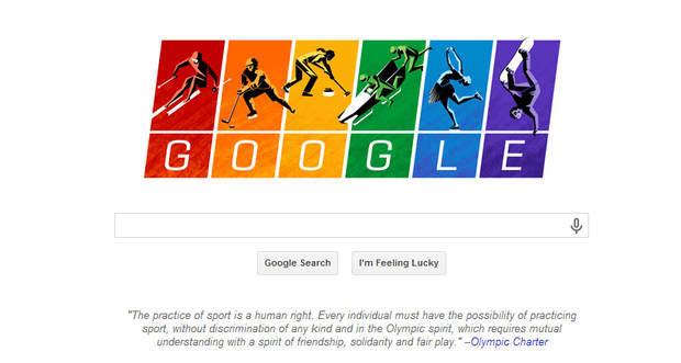 Winter Sochi Olympics Google Doodle