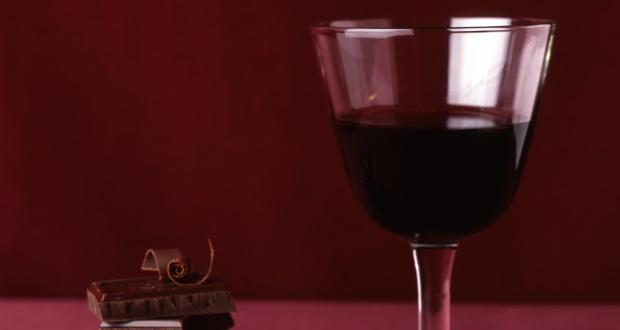 Red wine dark chocolate