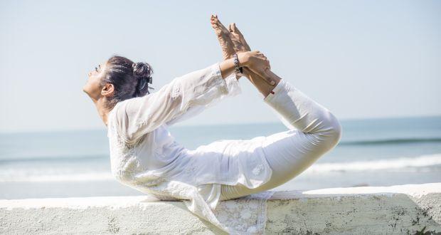 Dhanurvakrasana or The Bow Pose -- a yoga asana to beat indigestion