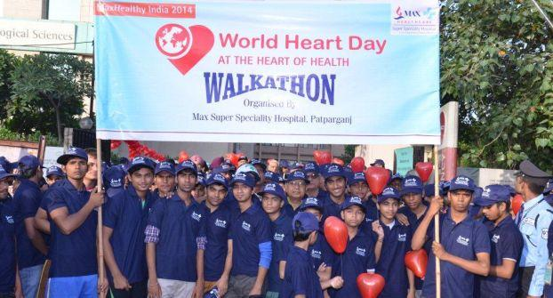 World Heart Day Walkathon at Max Super Speciality