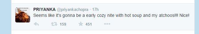 Priyanka chopra tweet