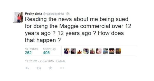 Preity Maggi response