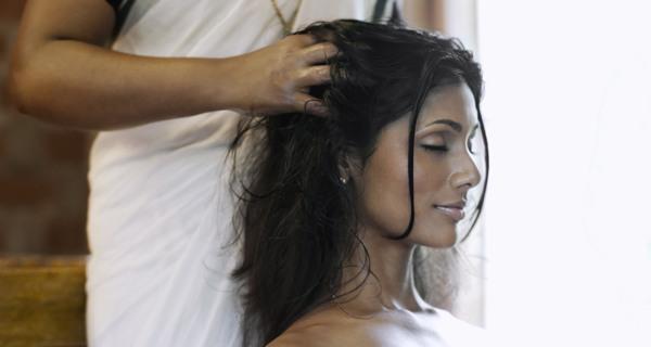 Head oil massage 1