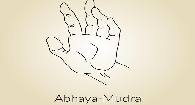 Overcome fear with a simple yoga mudra -- Abhaya mudra