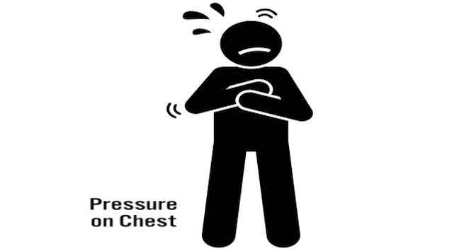 Pressure on chest