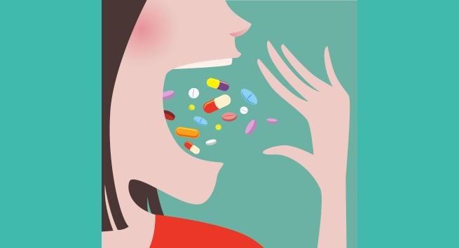 Pills eating
