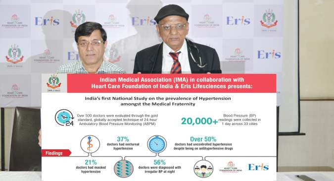 World Hypertension Day: National study by IMA, HCFI & Eris Lifesciences through the ABPM method reveals high incidence of hypertension amongst the medical fraternity