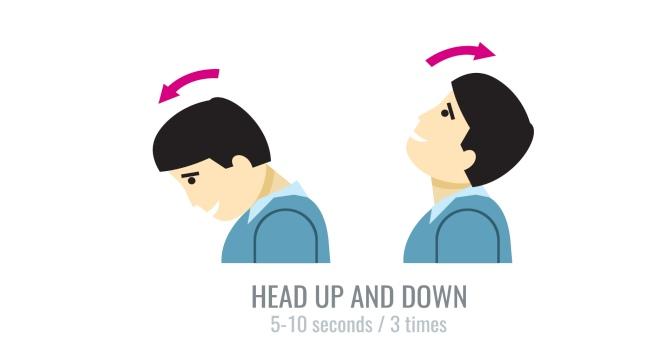 Head up down