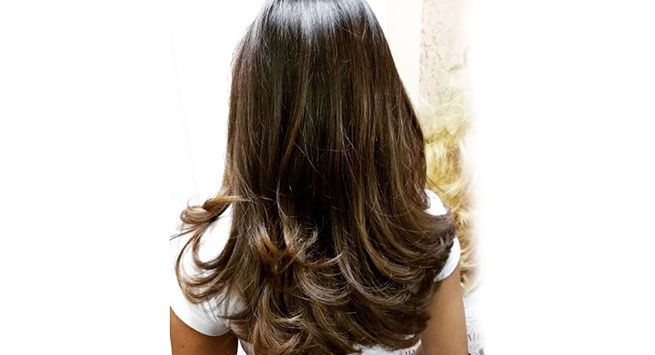 Coffee balayage hair colour