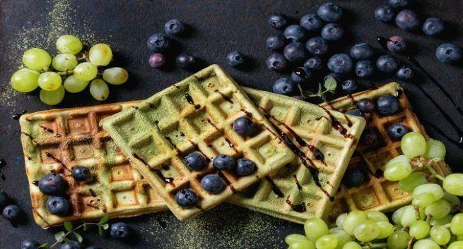 matcha waffles recipe