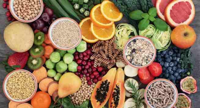 Fibre rich foods