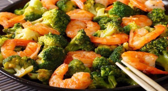 Broccoli prawns