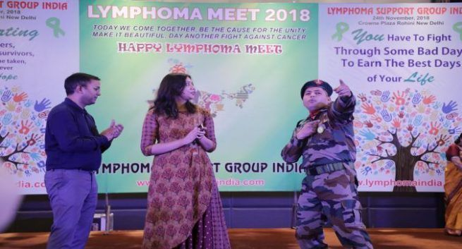 Lymphoma Survivour Anand a soldier