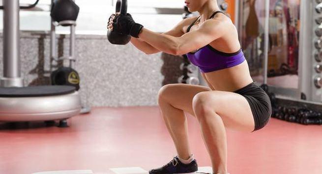 Kettlebell squat
