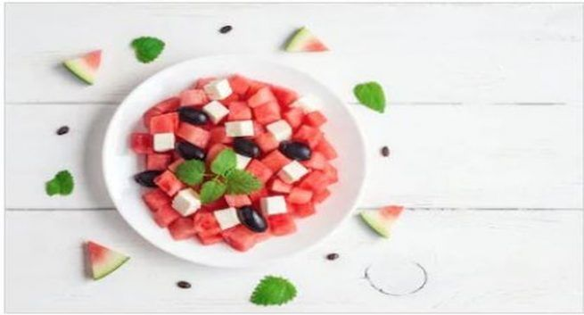 summer healthy recipe watermelon salad