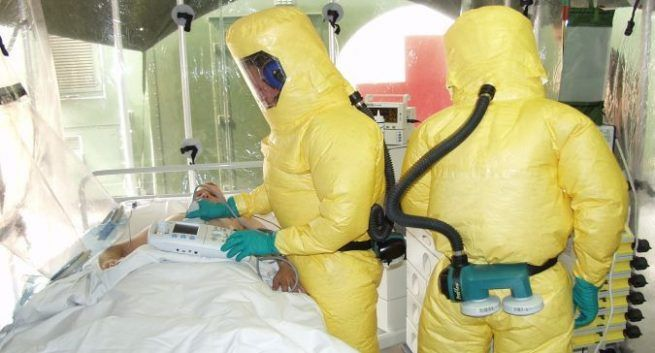 What causes Ebola virus infection